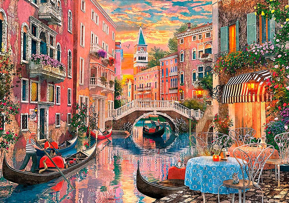 Puzzle Clementoni Romántico Atardecer en Venecia 6000 Piezas