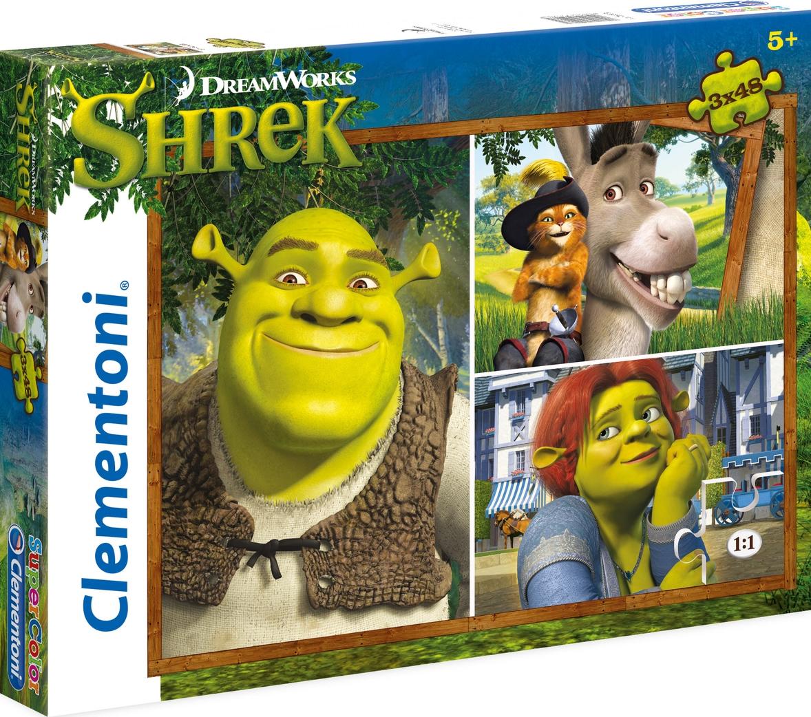 Puzzle Clementoni Shrek 3 x 48 Piezas