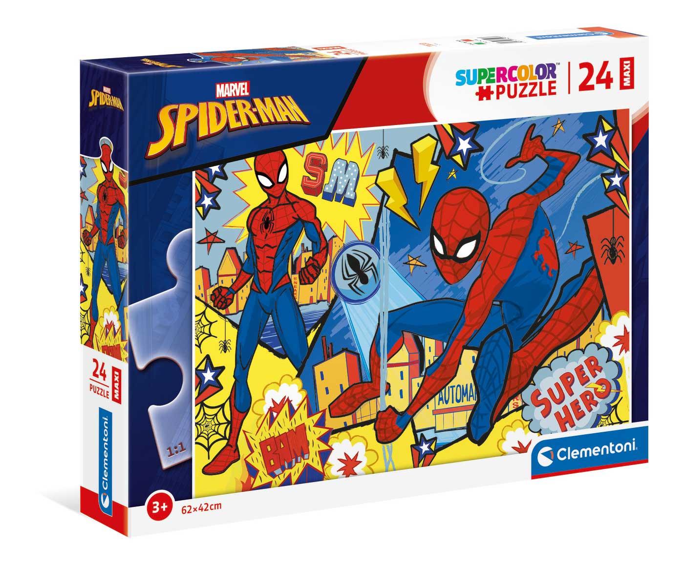 Puzzle Clementoni Spiderman Super Hero Maxi 24 Piezas