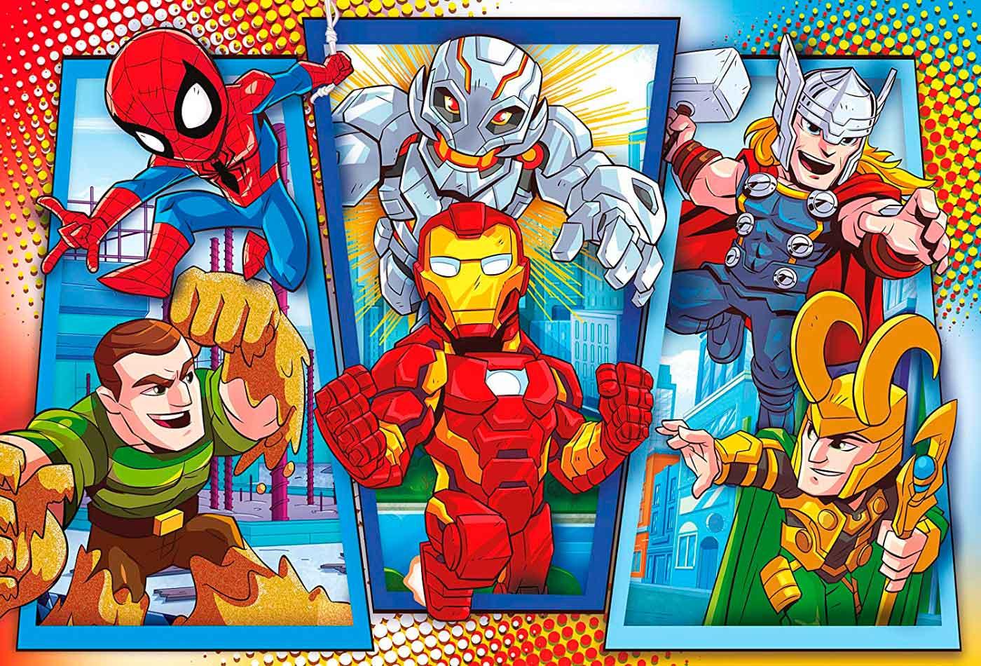 Puzzle Clementoni Superhéroes Marvel Maxi de 104 Piezas