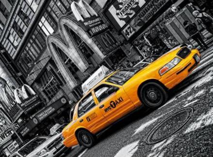 Puzzle Clementoni Taxi Amarillo, Nueva York de 1000 Piezas