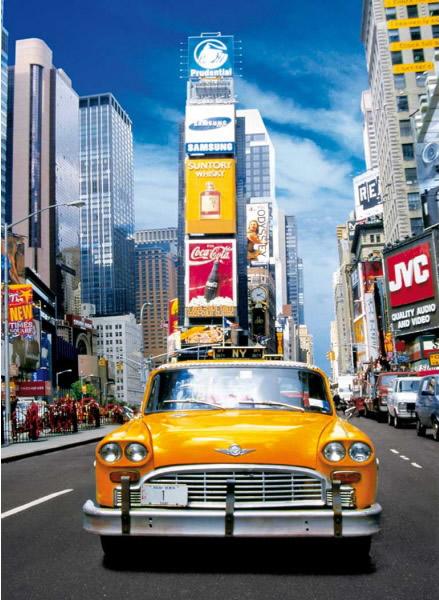 Puzzle Clementoni Taxi en Time Square de 500 Piezas