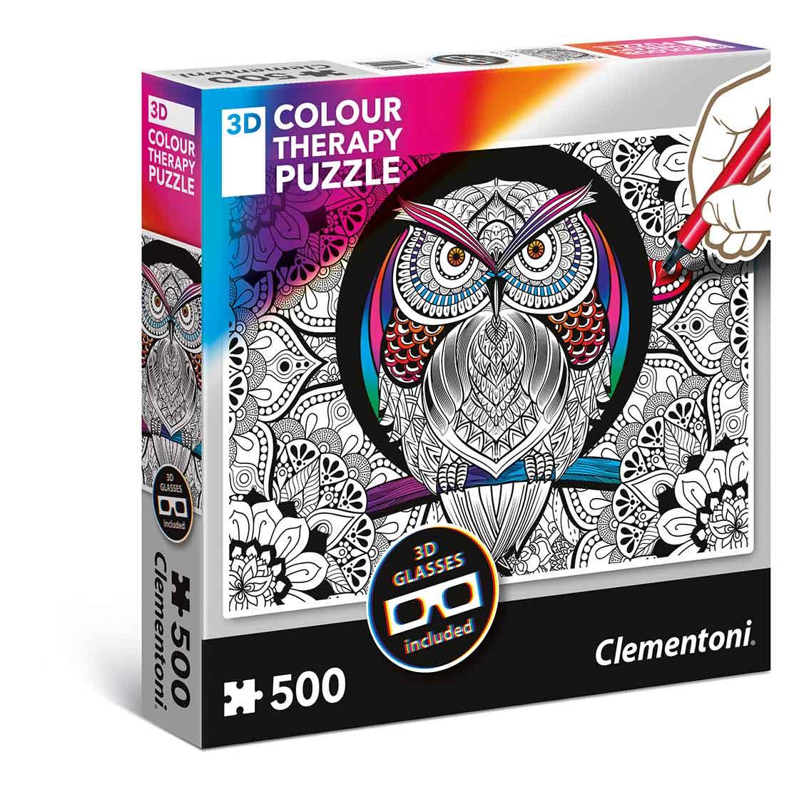 Puzzle Clementoni THERAPY El Búho de 500 Piezas
