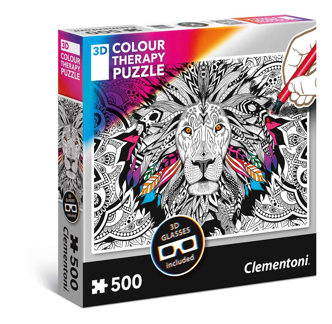 Puzzle Clementoni THERAPY El León de 500 Piezas