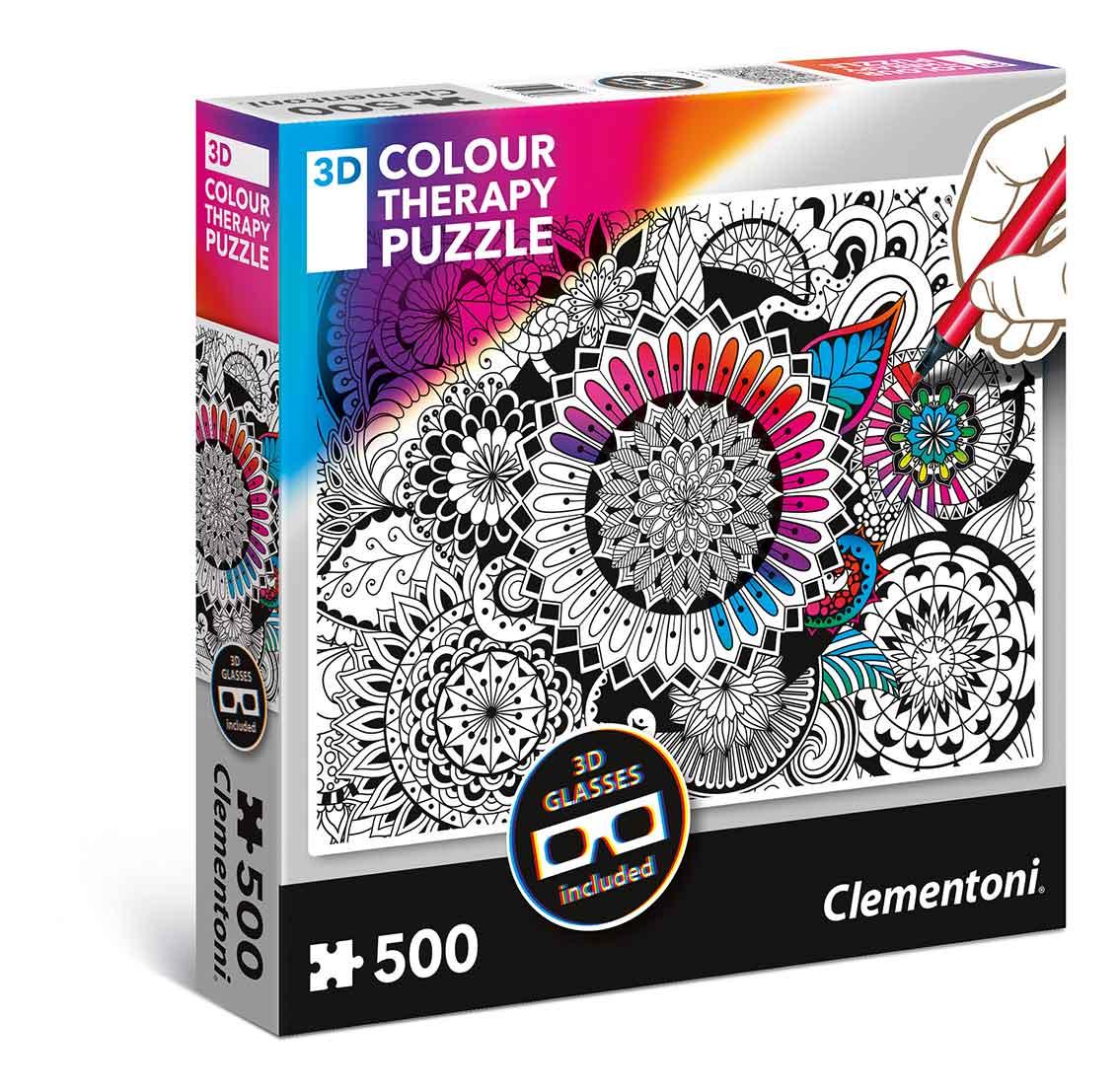 Puzzle Clementoni THERAPY Mandala de 500 Piezas