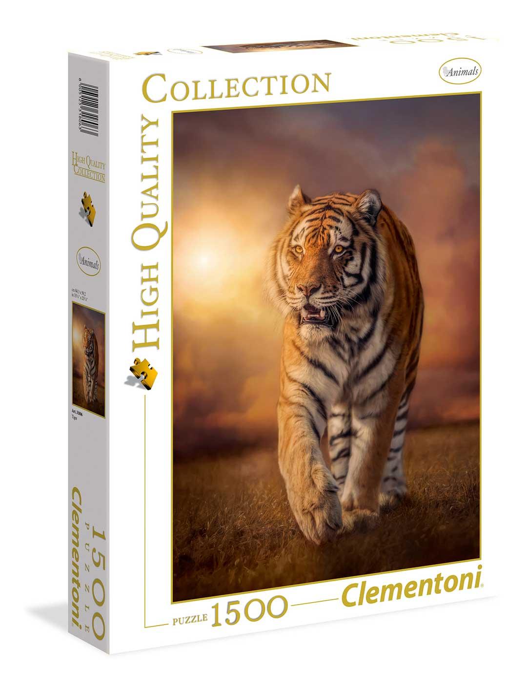 Puzzle Clementoni Tigre al Atardecer de 1500 Piezas