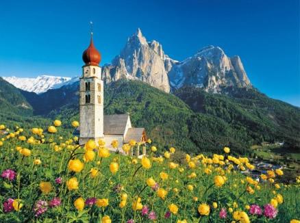 Puzzle Clementoni Tirol, Iglesia San Valentín de 1500 Piezas
