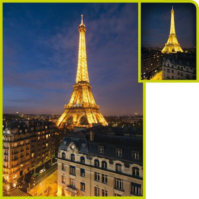 Puzzle Clementoni Torre Eiffel Fosforescente de 1000 Piezas
