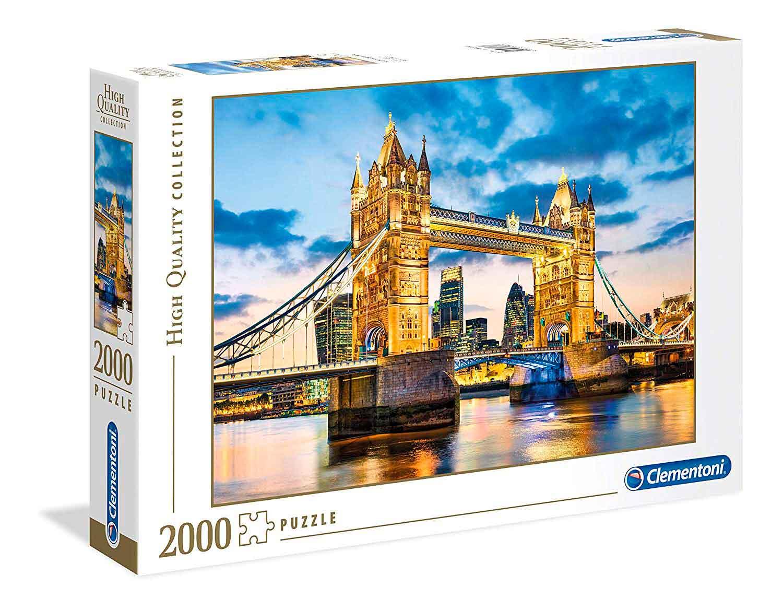 Puzzle Clementoni Tower Bridge al Anochecer de 2000 Piezas