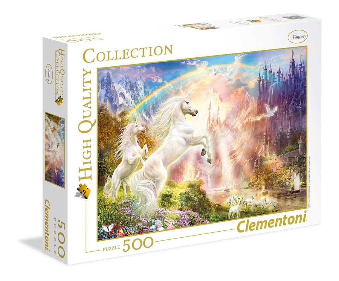 Puzzle Clementoni Unicornios y el Arco Iris de 500 Piezas