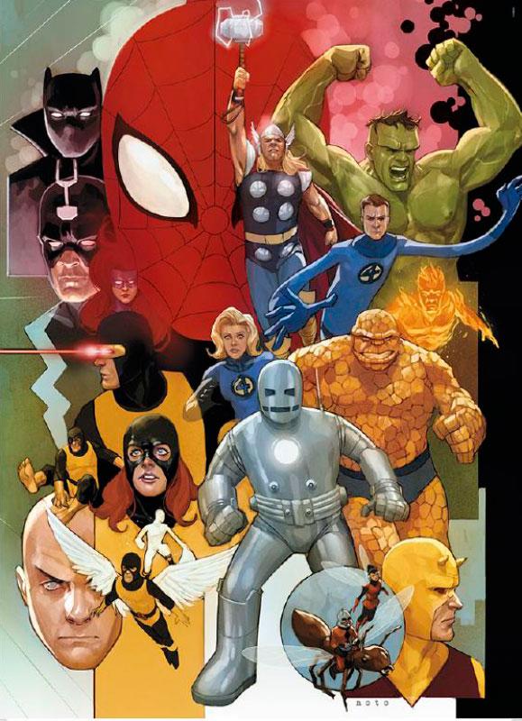 Puzzle Clementoni Universo Marvel Años 80 de 1000 Piezas