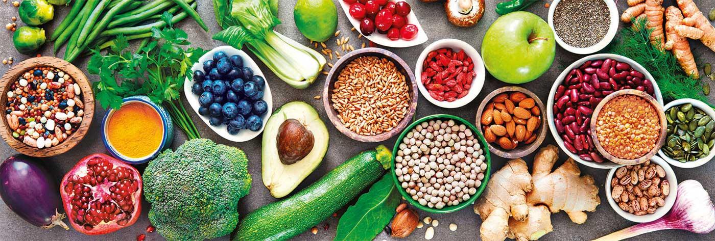 Puzzle Clementoni Vegetariano y Saludable Panorama de 1000 Pzs