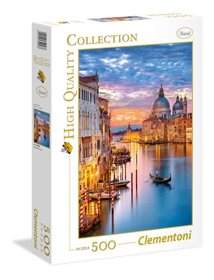 Puzzle Clementoni Venecia Iluminada de 500 Piezas
