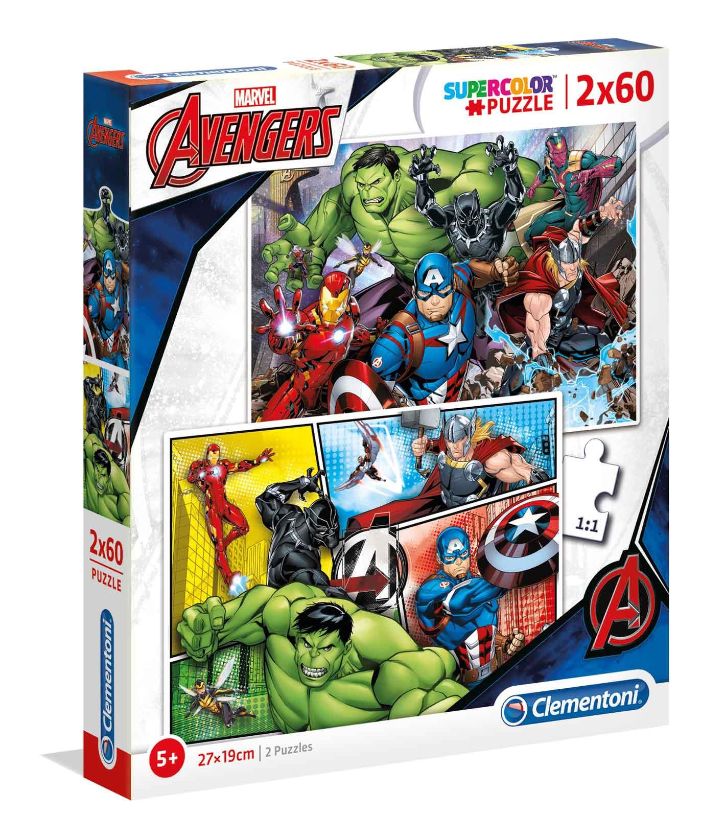 Puzzle Clementoni Vengadores 2 x 60 Piezas