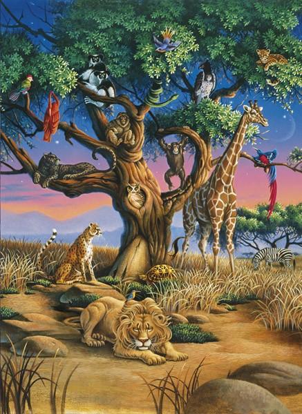 Puzzle Clementoni Vida Africana de 1000 Piezas