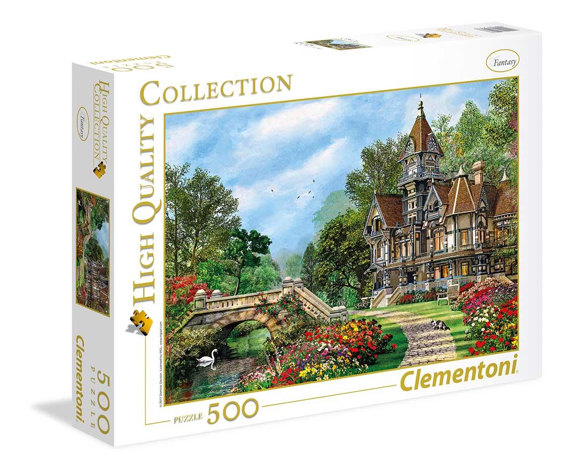 Puzzle Clementoni Vieja Cabaña del Puente de 500 Piezas