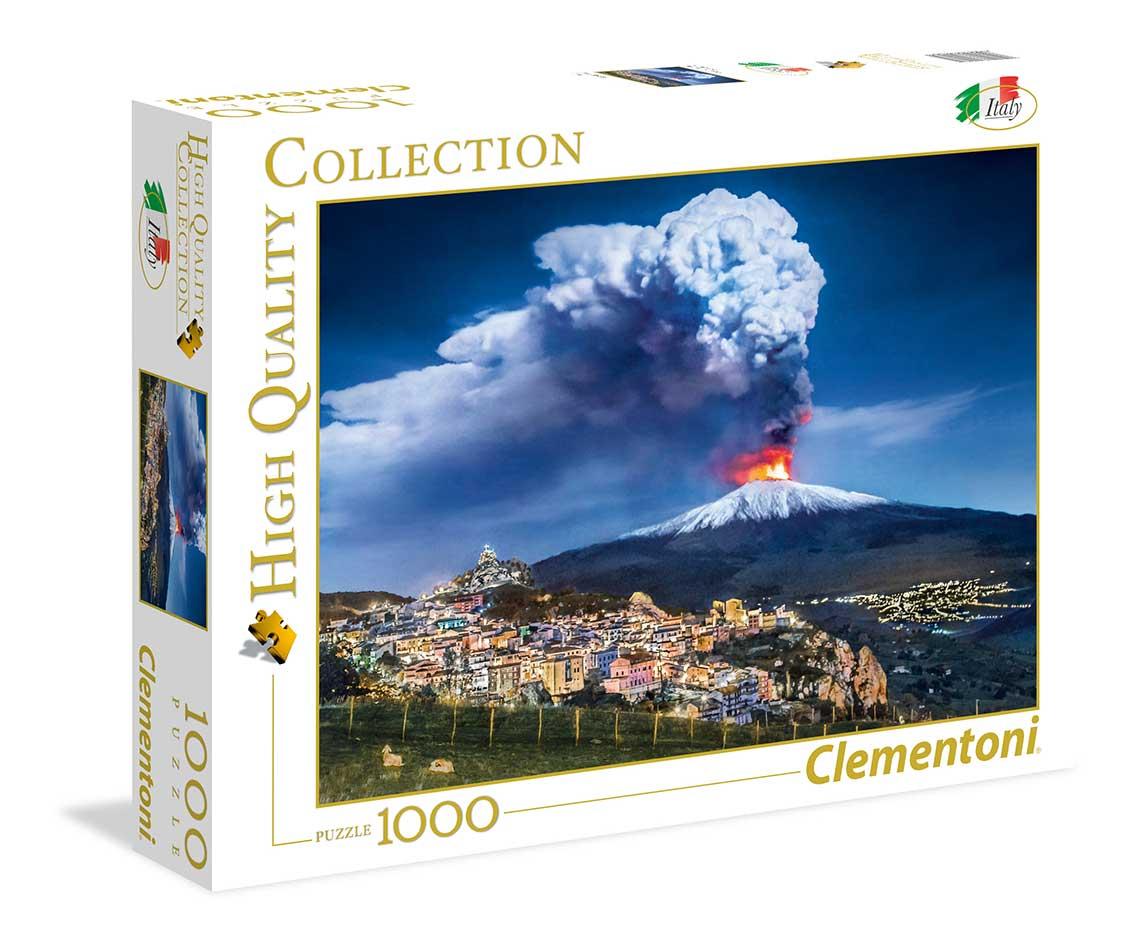 Puzzle Clementoni Volcán Etna, Italia de 1000 Piezas