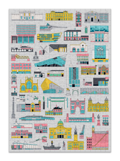 Puzzle Cloudberries Buildings de 500 Piezas