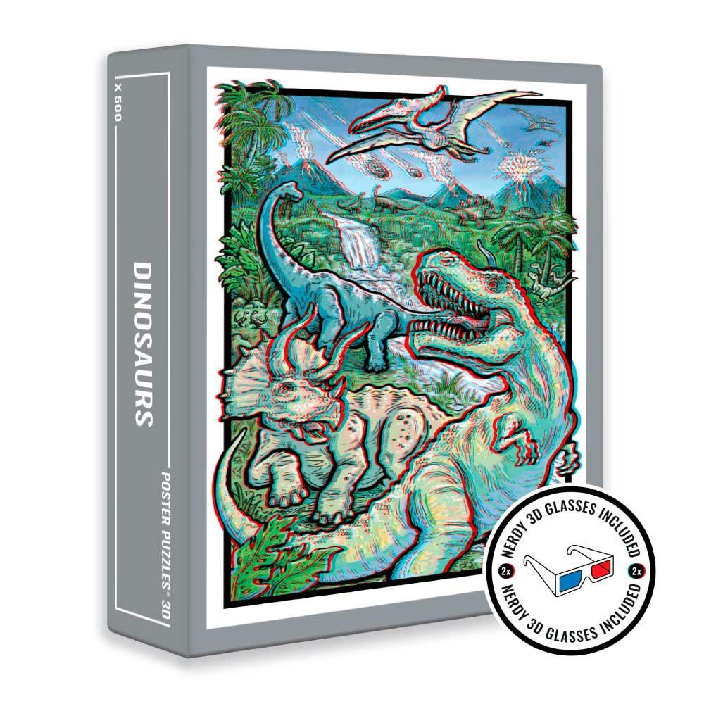 Puzzle Cloudberries Dinosaurs Imagen Efecto 3D de 500 Piezas