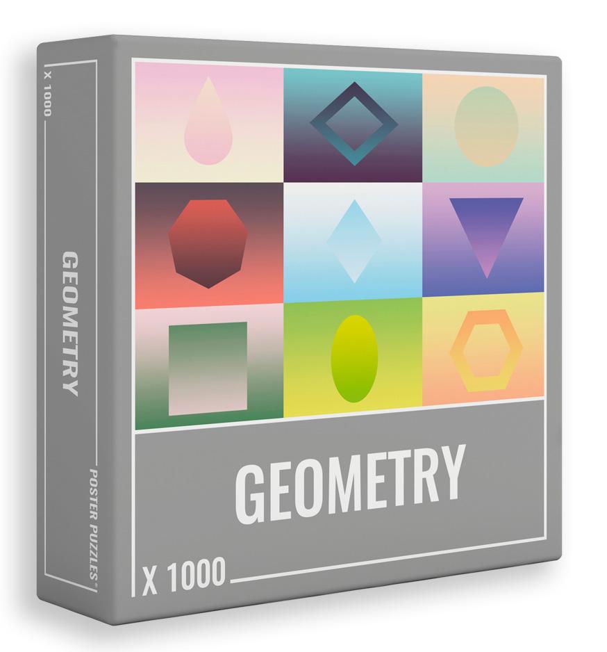 Puzzle Cloudberries Geometry de 1000 Piezas