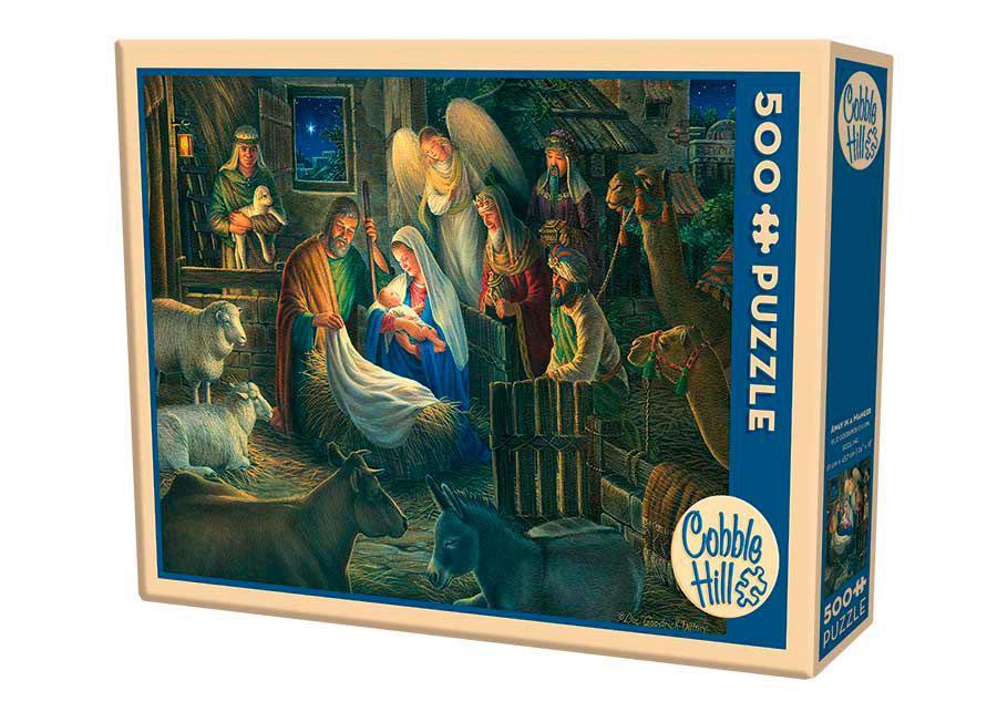 Puzzle Cobble Hill Adoración de los Magos en el Pesebre, 500 Pzs