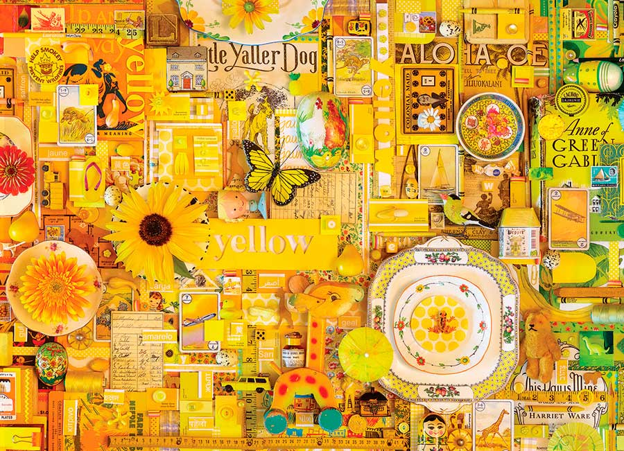 Puzzle Cobble Hill Amarillo de 1000 Piezas