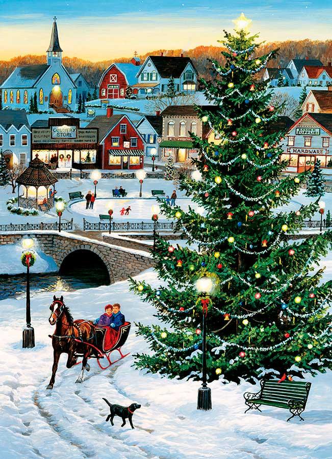 Puzzle Cobble Hill Árbol de Navidad de 1000 Piezas