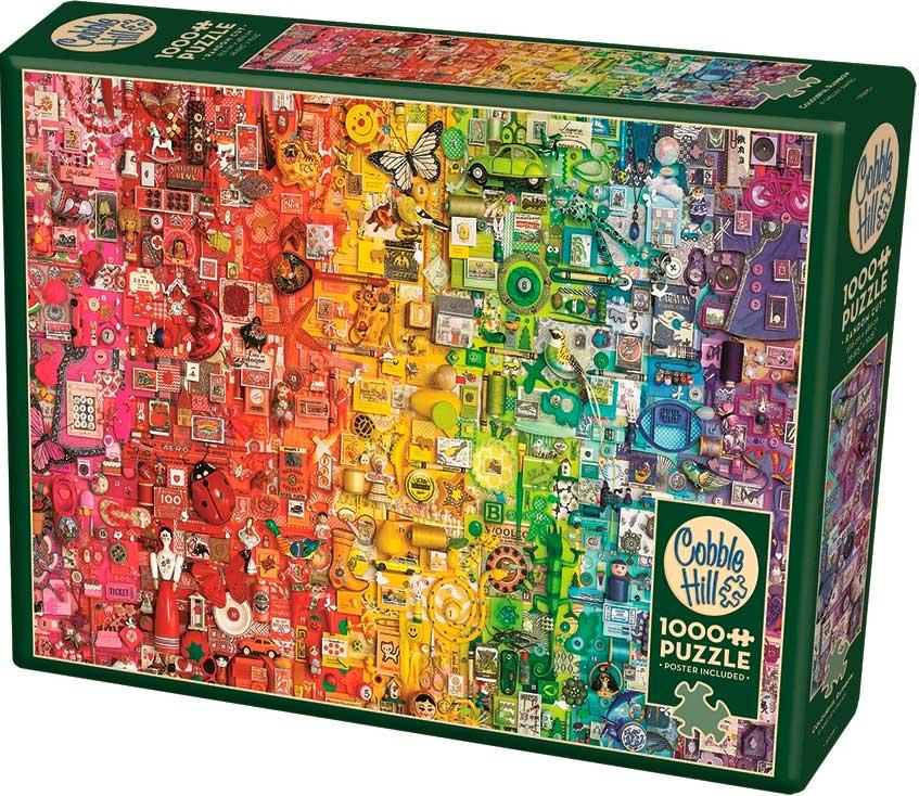 Puzzle Cobble Hill Arcoíris Colorido de 1000 Piezas