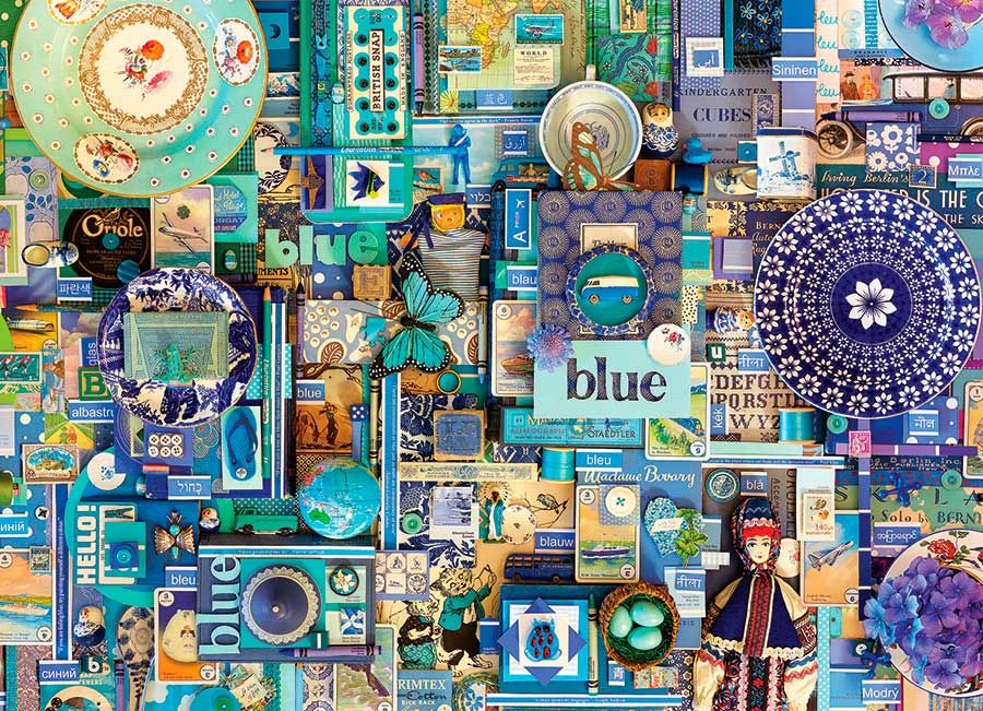 Puzzle Cobble Hill Azul de 1000 Piezas