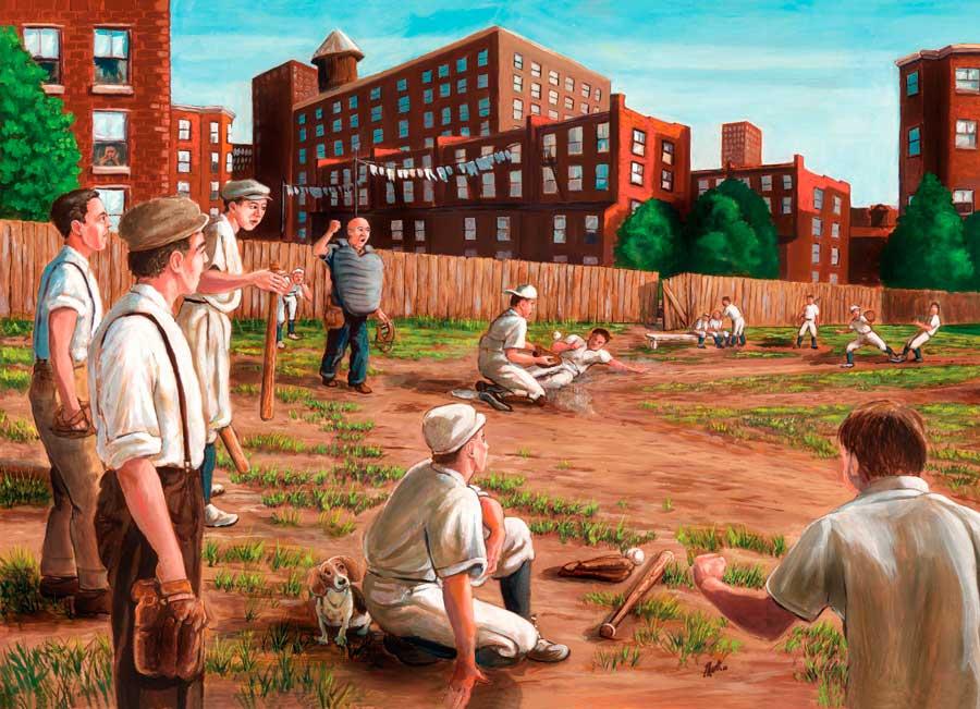 Puzzle Cobble Hill Baseball en los Viejos Tiempos de 1000 Piezas