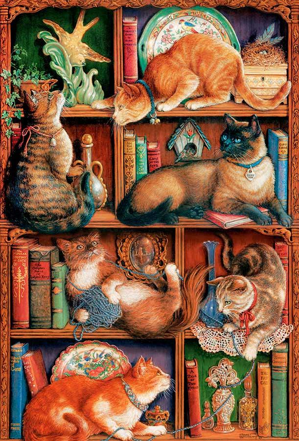 Puzzle Cobble Hill Biblioteca Felina de 2000 Piezas