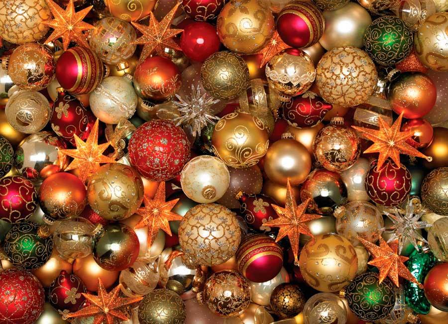 Puzzle Cobble Hill Bolas de Navidad de 500 Piezas