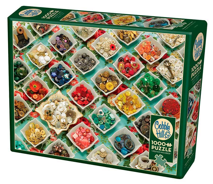 Puzzle Cobble Hill Botones de la Abuela de 1000 Piezas