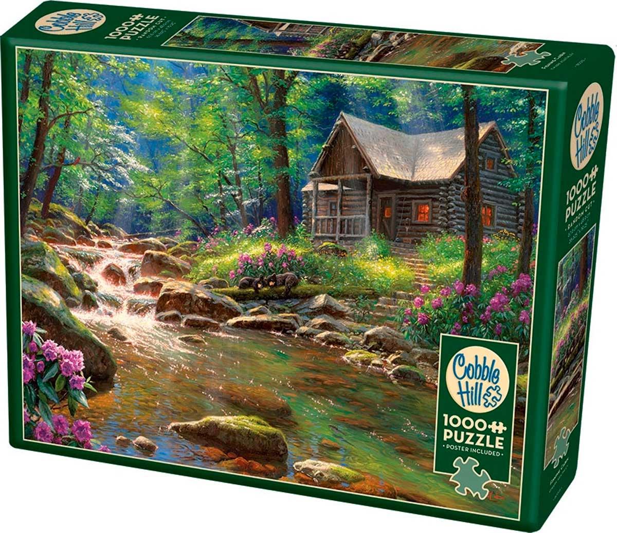 Puzzle Cobble Hill Cabaña de Pesca de 1000 Piezas
