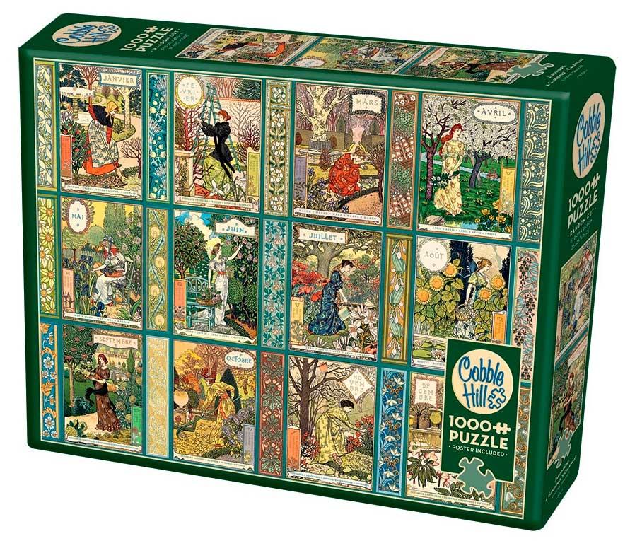 Puzzle Cobble Hill Calendario de Jardinero de 1000 Piezas