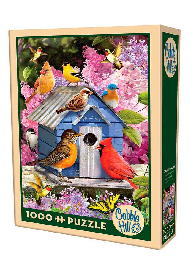 Puzzle Cobble Hill Casa de Pájaros de Primavera, 1000 Piezas