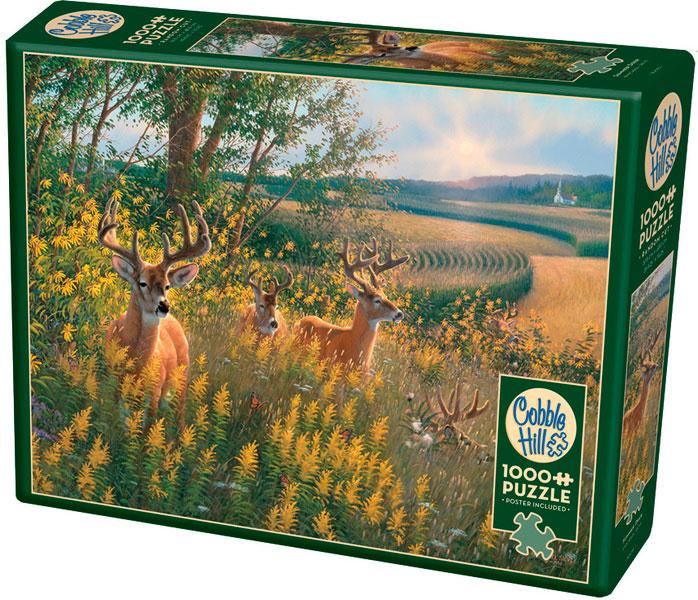 Puzzle Cobble Hill Ciervos en Verano de 1000 Piezas