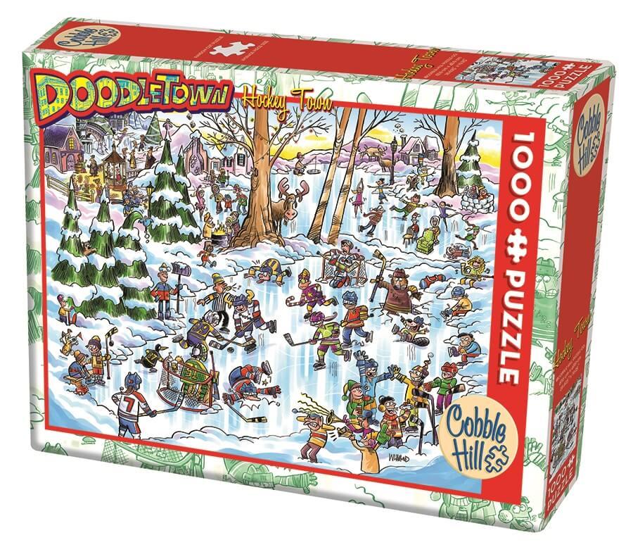Puzzle Cobble Hill Ciudad del Hockey de 1000 Piezas