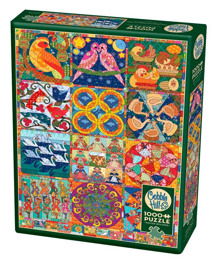 Puzzle Cobble Hill Colcha 12 Días De Navidad de 1000 Piezas