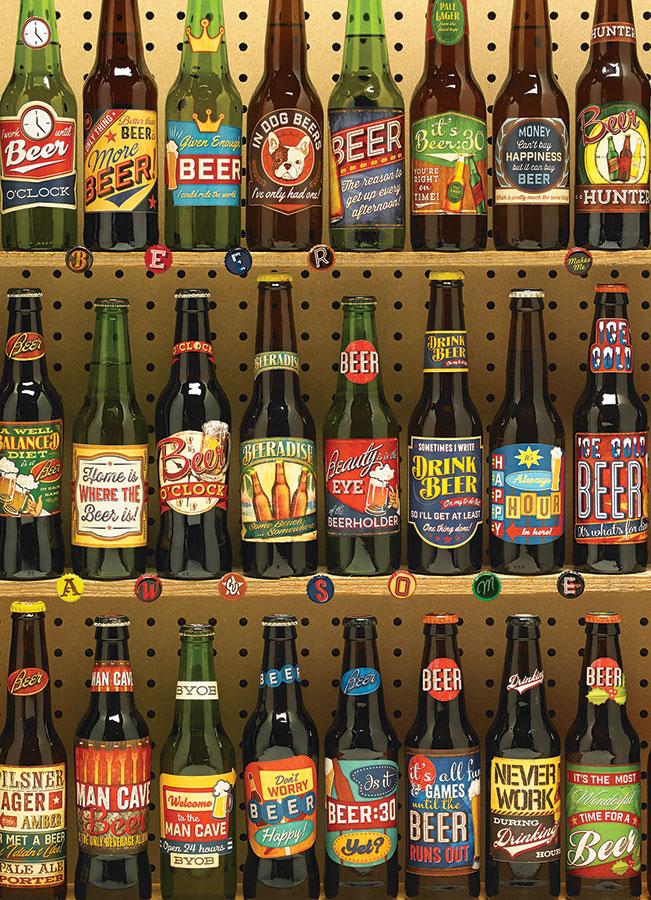 Puzzle Cobble Hill Colección de Cervezas Americanas 1000 Piezas
