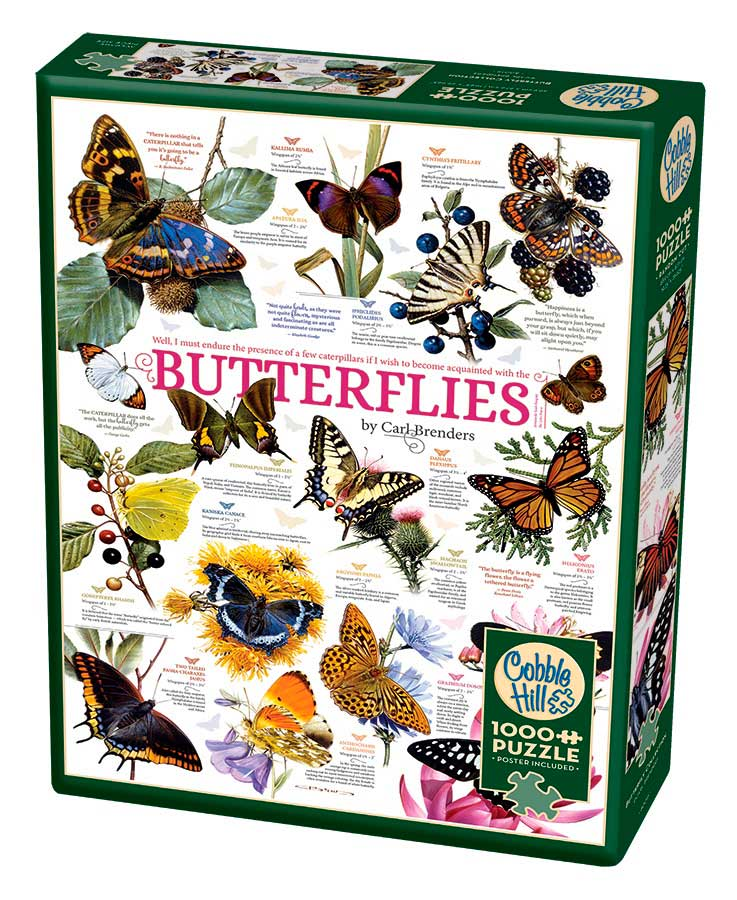Puzzle Cobble Hill Colección de Mariposas de 1000 Piezas