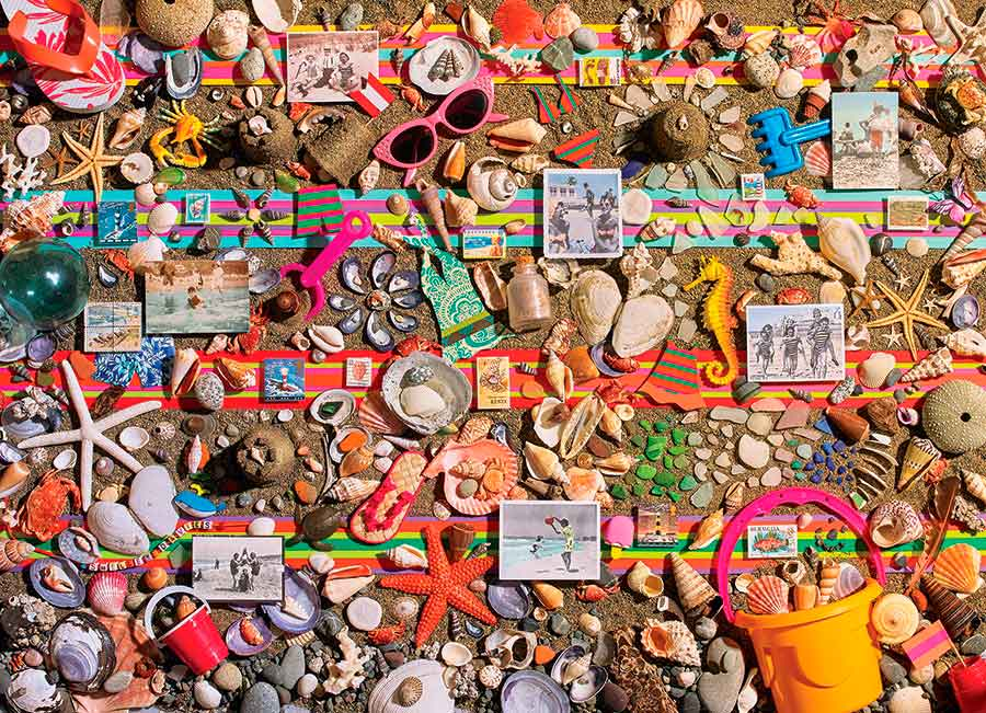 Puzzle Cobble Hill Collage de Playa de 1000 Piezas