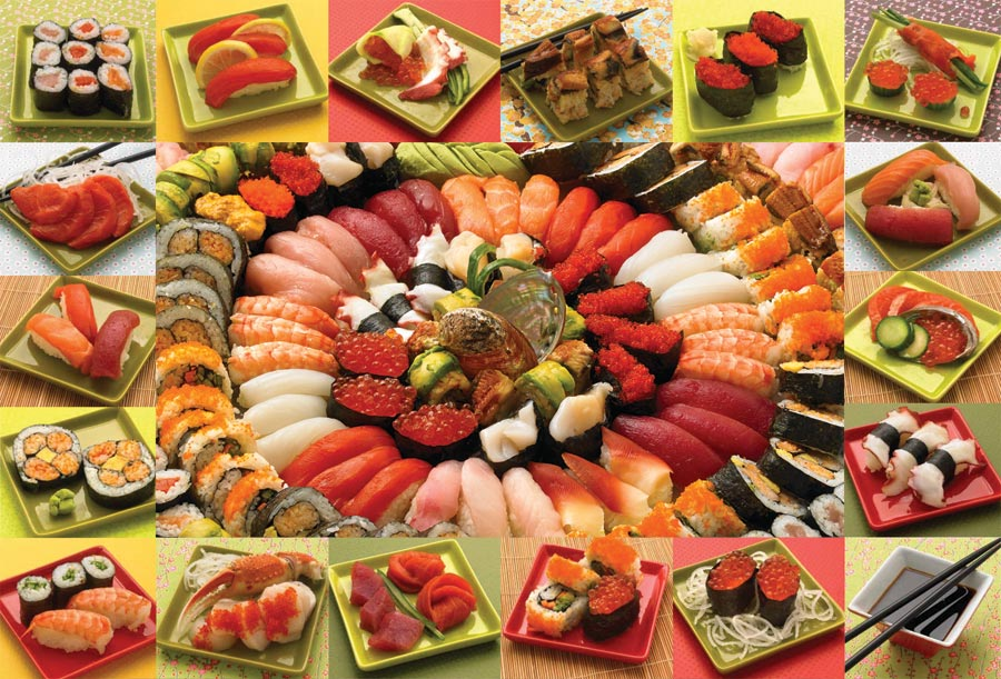 Puzzle Cobble Hill Collage de Sushi de 2000 Piezas
