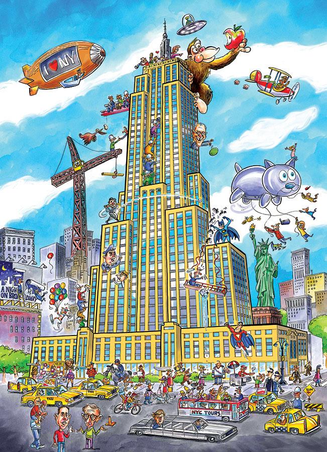 Puzzle Cobble Hill DoodleTown, Empire State de 1000 Piezas