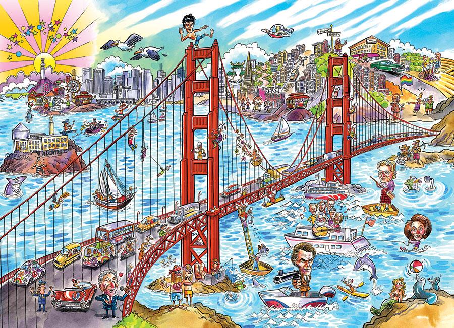 Puzzle Cobble Hill DoodleTown, San Francisco de 1000 Piezas