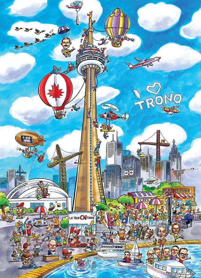 Puzzle Cobble Hill DoodleTown, Toronto de 1000 Piezas