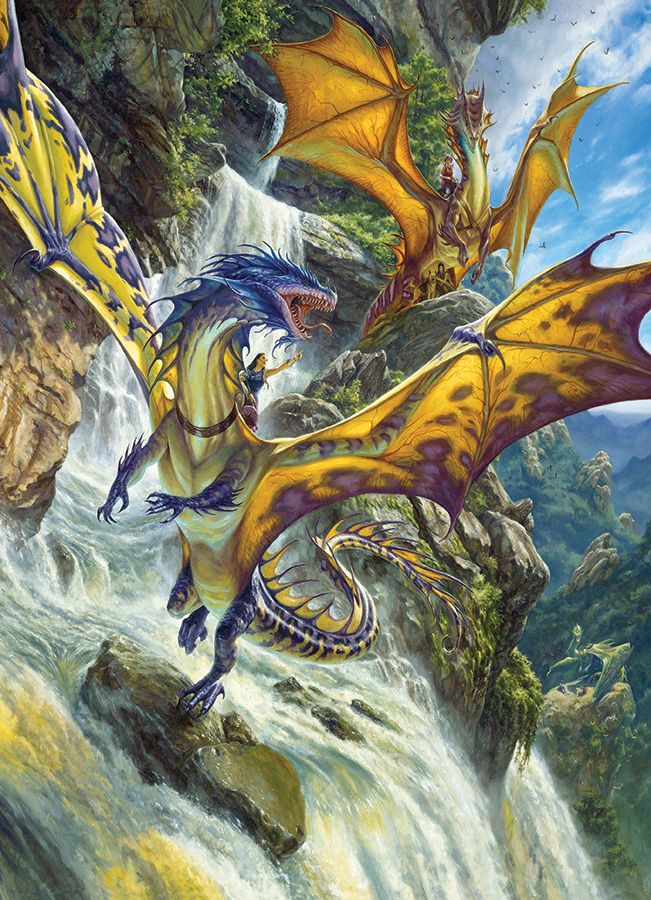 Puzzle Cobble Hill Dragones en las Cascadas de 1000 Piezas