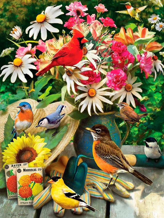 Puzzle Cobble Hill El Jardín de los Pájaros de 500 Piezas