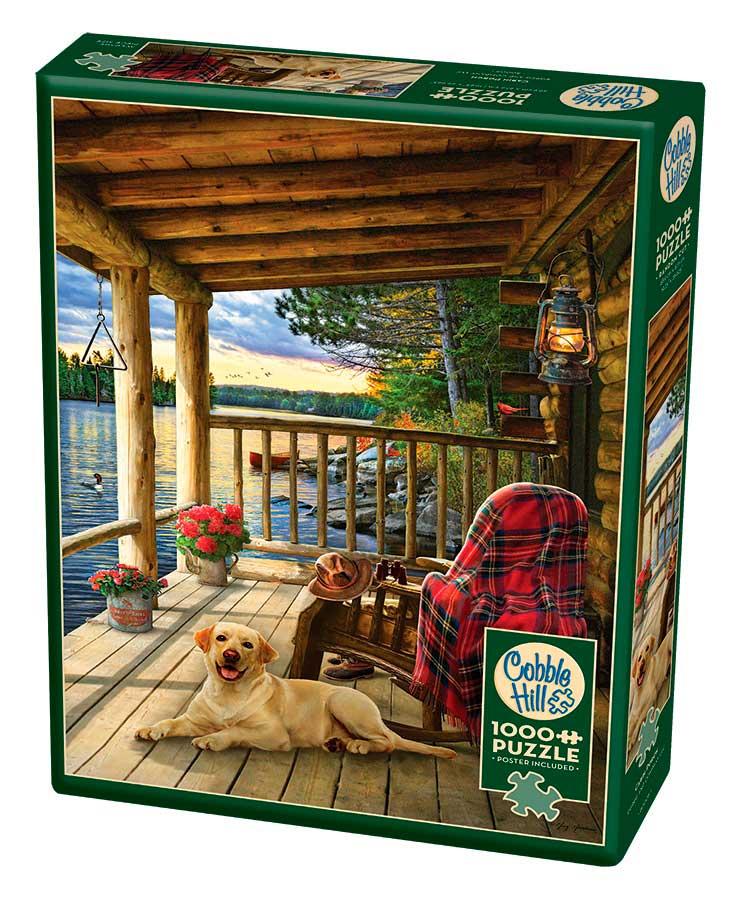 Puzzle Cobble Hill El Porche de la Cabaña de 1000 Piezas