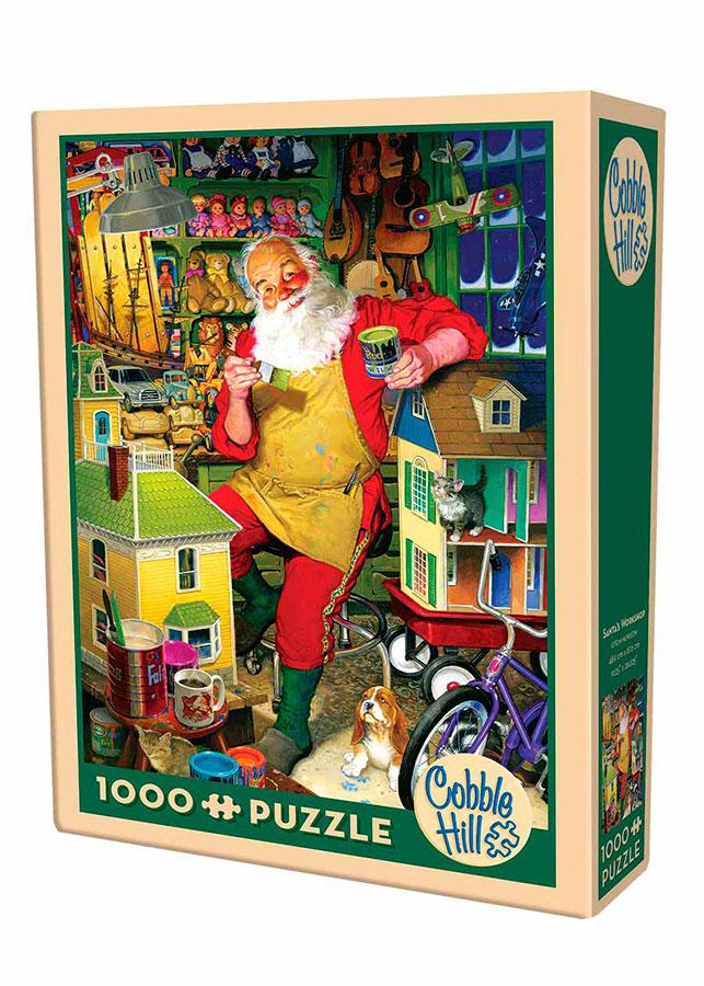 Puzzle Cobble Hill El Taller de Papá Noel de 1000 Piezas